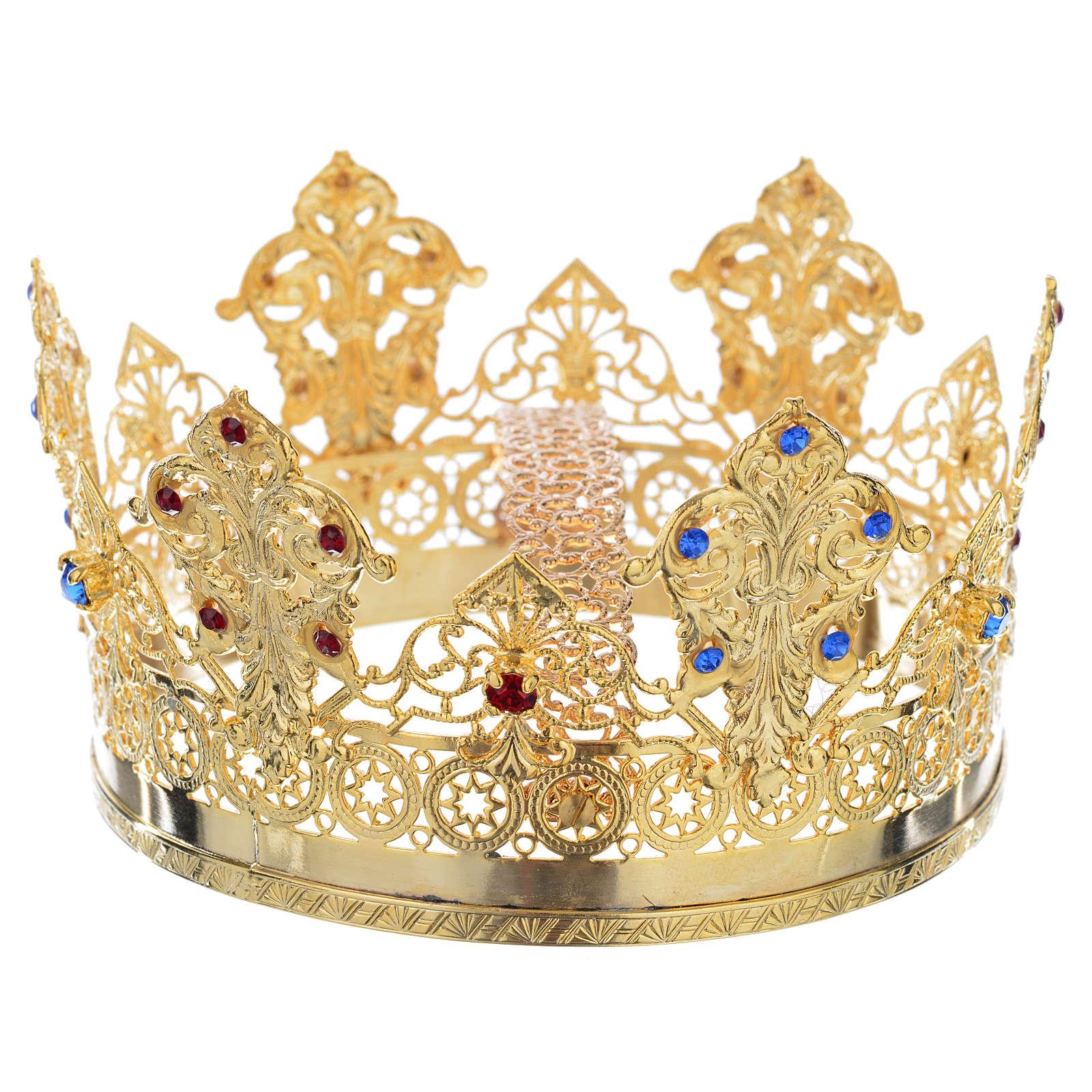 Corona Ducale dorata strass due colori 3