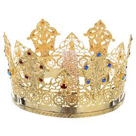Corona Ducale dorata strass due colori s2