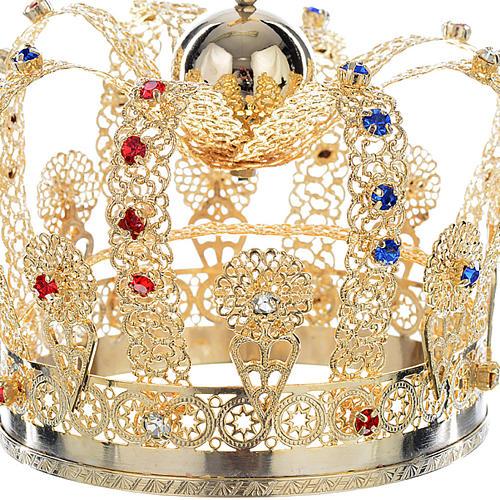 Corona ottone strass 2