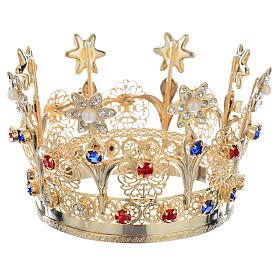 Corona Reale ottone e strass s2