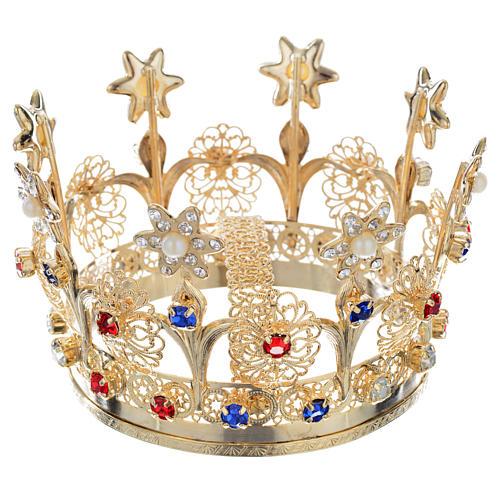 Corona Reale ottone e strass 1