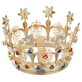 Crown with flowers and strass decorations s1