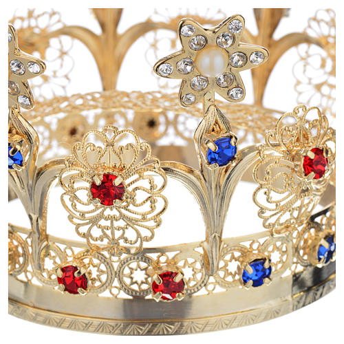 Crown with flowers and strass decorations 3