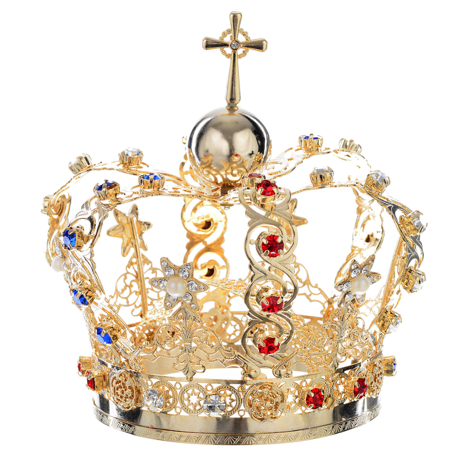 Crown with stars and strass inlays 3