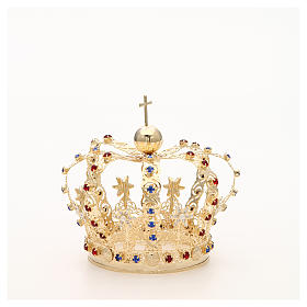 Crown with stars and strass inlays s10