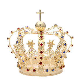 Crown with stars and strass inlays s1