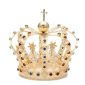 Crown with stars and strass inlays s2