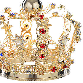 Crown with stars and strass inlays s3
