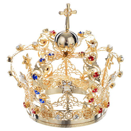 Crown with stars and strass inlays 4