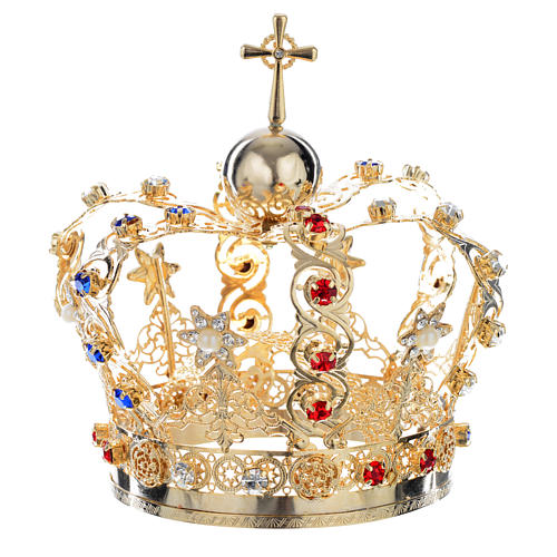 Crown with stars and strass inlays 5