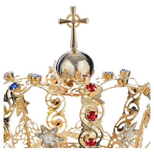 Crown with stars and strass inlays 6