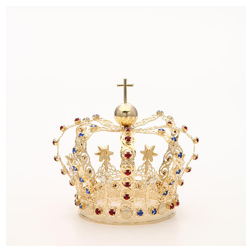 Crown with stars and strass inlays 7