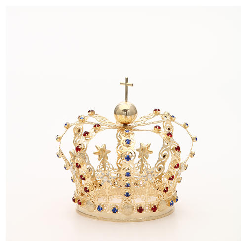 Crown with stars and strass inlays 8