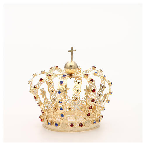 Crown with stars and strass inlays 9