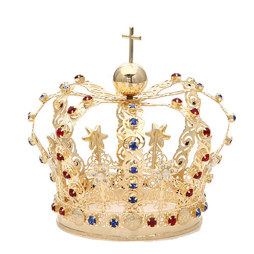 Crown with stars and strass inlays 2