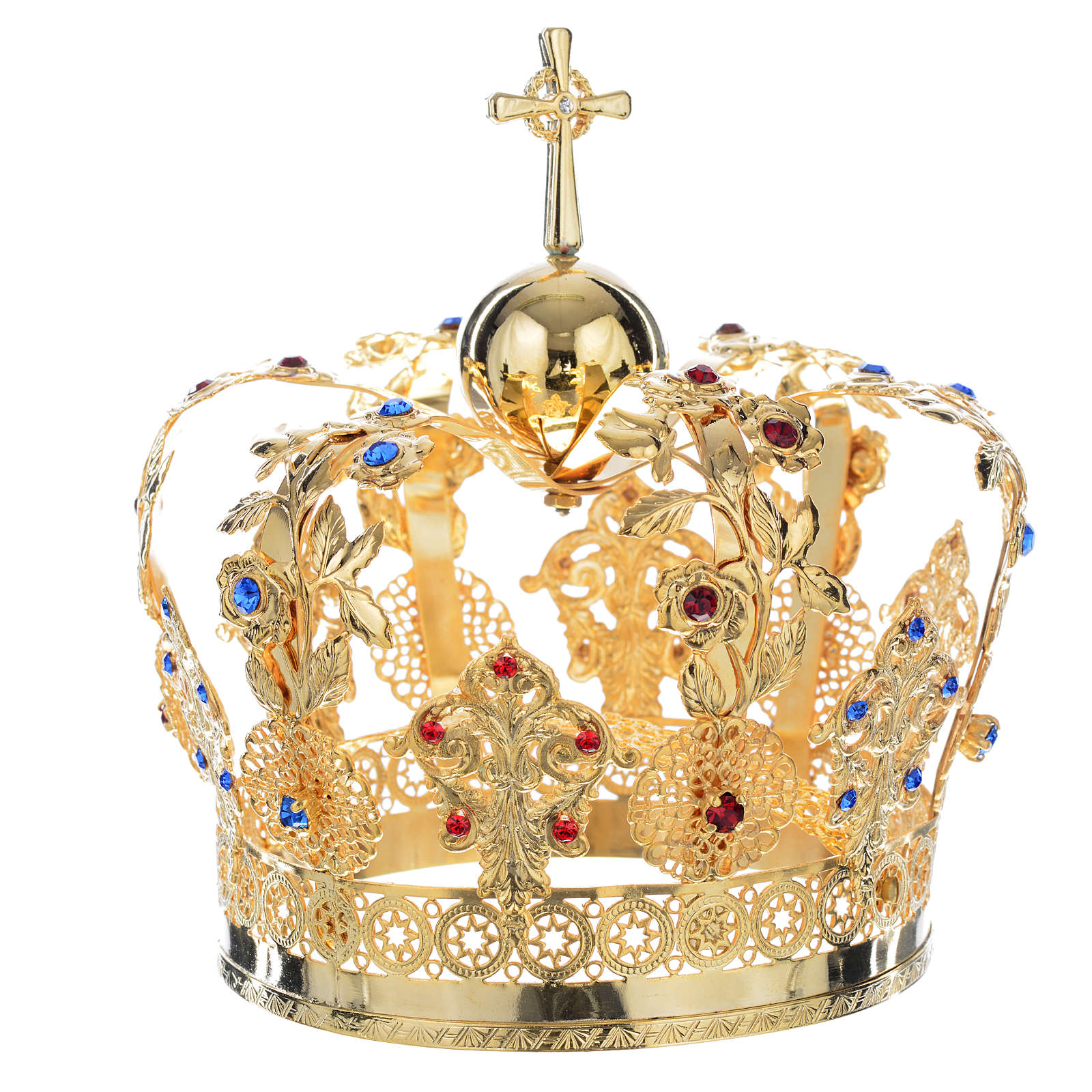 Corona Metallo decoro floreale 3