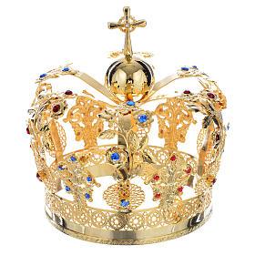 Corona Metallo decoro floreale s1