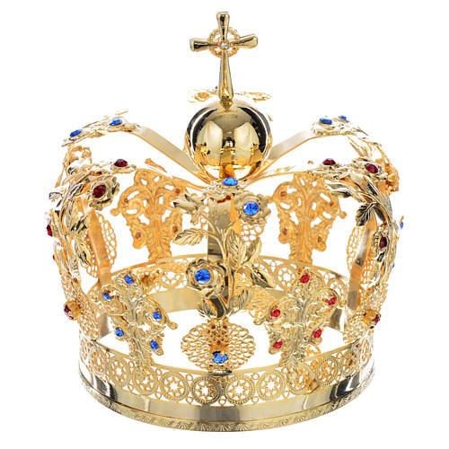 Corona Metallo decoro floreale 1