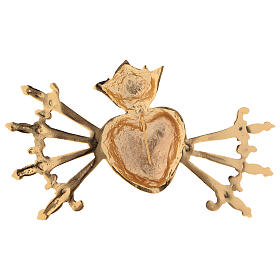 Heart with seven swords in cast brass for Our Lady of Sorrow s2
