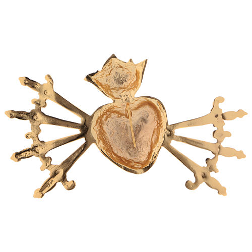 Heart with seven swords in cast brass for Our Lady of Sorrow 2