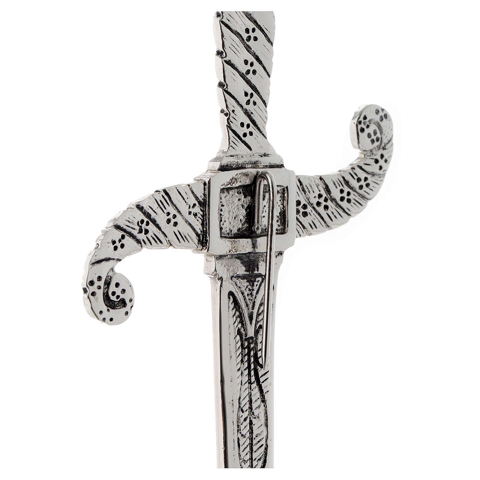 Brass dagger in silver cast brass 31cm 3