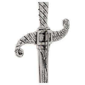 Brass dagger in silver cast brass 31cm s3