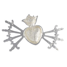 Heart with seven swords for Our Lady of Sorrows in silver-plated brass s3