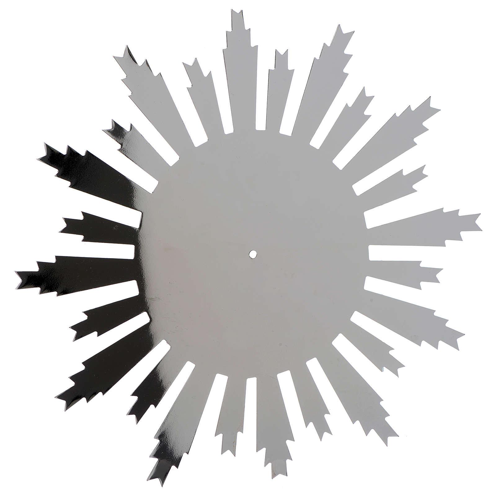 Raggiera ottone argentato raggi incisi 25 cm 3