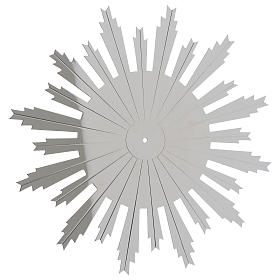Raggiera ottone argentato raggi incisi 25 cm s1