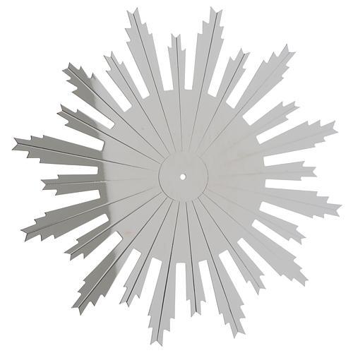 Raggiera ottone argentato raggi incisi 25 cm 1