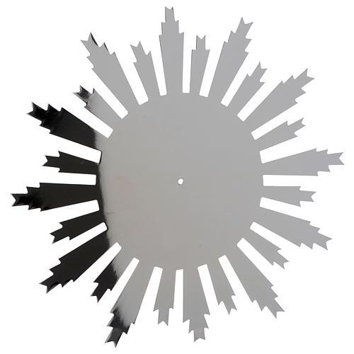 Raggiera ottone argentato raggi incisi 25 cm 2