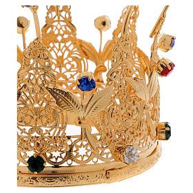 Corona estilo real flores y gemas para estatuas diám. 10 cm s2