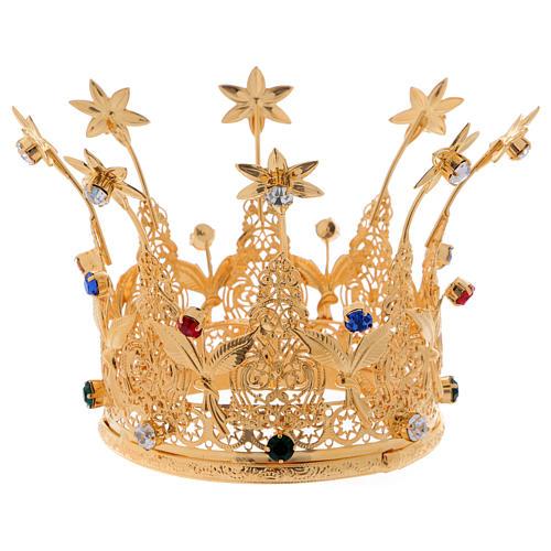 Corona estilo real flores y gemas para estatuas diám. 10 cm 1