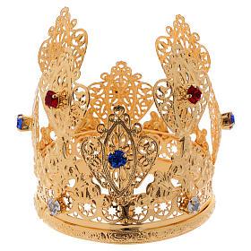 Korona mała książęca filigran i klejnoty do figur średnica 8 cm s3
