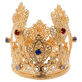 Coroa ducal filigrana e gemas para estátuas diâm. 8 cm s3