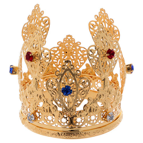 Ducal crown filagree and gems for statues 3 in diameter 3
