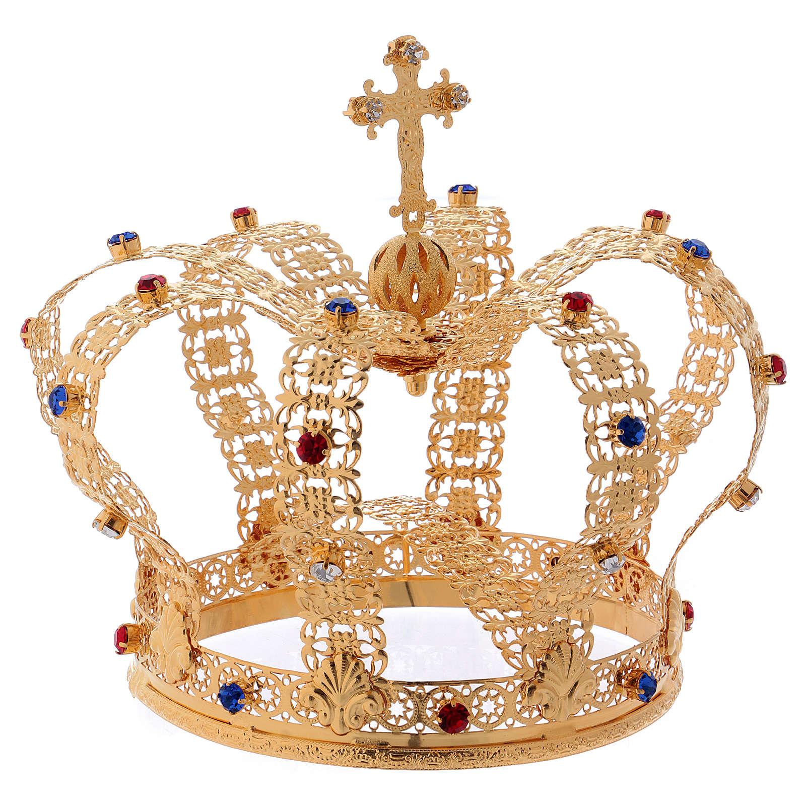 Corona imperiale con croce sulla punta per statue diam. 15 cm 3
