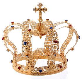 Corona imperiale con croce sulla punta per statue diam. 15 cm s1