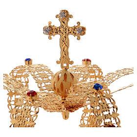 Corona imperiale con croce sulla punta per statue diam. 15 cm s2