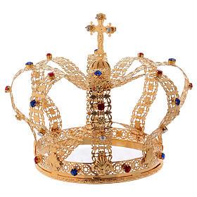 Corona imperiale con croce sulla punta per statue diam. 15 cm s3
