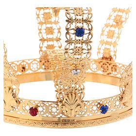 Corona imperiale con croce sulla punta per statue diam. 15 cm s4
