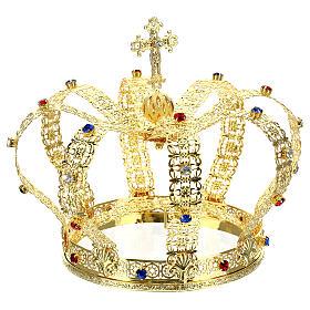 Corona imperiale con croce sulla punta per statue diam. 15 cm s5