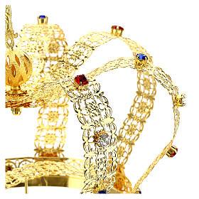Corona imperiale con croce sulla punta per statue diam. 15 cm s6