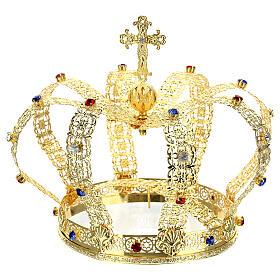 Corona imperiale con croce sulla punta per statue diam. 15 cm s7