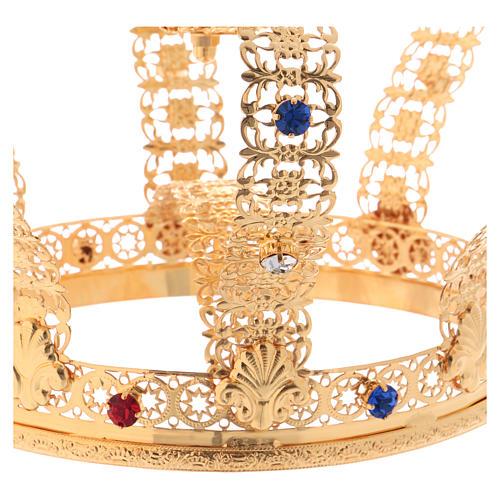Corona imperiale con croce sulla punta per statue diam. 15 cm 4