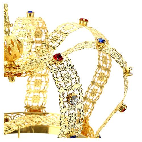 Corona imperiale con croce sulla punta per statue diam. 15 cm 6