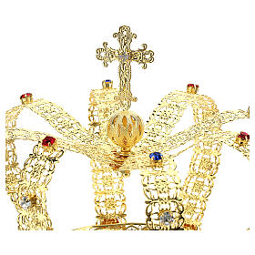 Imperial crown with cross on the top for statues 6 in diameter s2