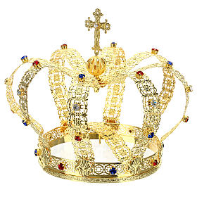 Imperial crown with cross on the top for statues 6 in diameter s3