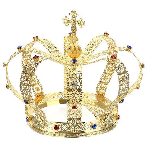 Imperial crown with cross on the top for statues 6 in diameter 1