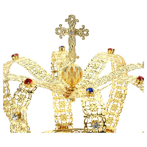 Imperial crown with cross on the top for statues 6 in diameter 2
